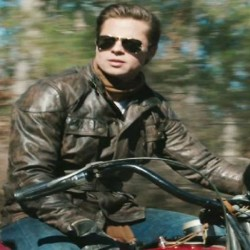 Benjamin Button Leather Motorcycle Jacket