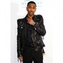 Big Sean Black Motorcycle Leather Jacket