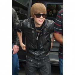 Justin Bieber Delicate Leather Bomber Jacket