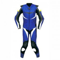 Blue & Black Motorbike Racing Leather Suits