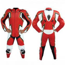 Men Designer Motorbike Racing Leather Suit