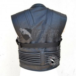 Avengers Jeremy Renner Hawkeye sleeveless Leather Jacket
