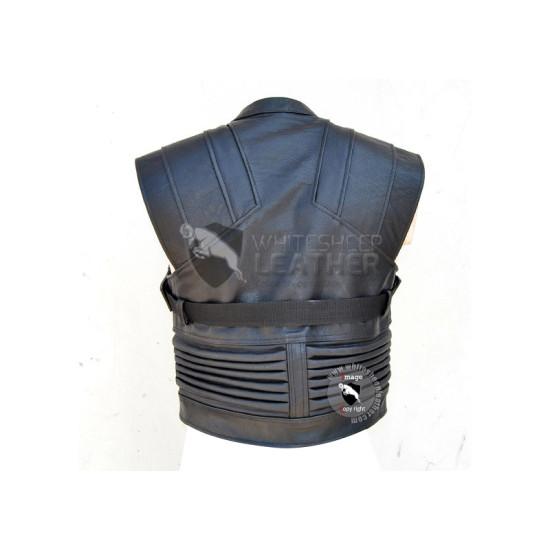 Avengers Jeremy Renner Hawkeye sleeveless Leather Jacket
