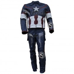 Avengers 2 Captain America Age of Ultron Leather costume suit  (Free Shipping )
