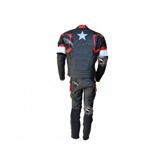 Captain America Avenger 2 Age of Ultron Biker Leather Jacket