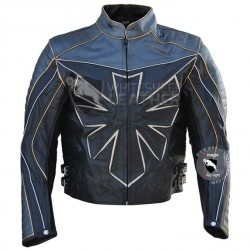 Custom Triumph Biker Leather Jacket