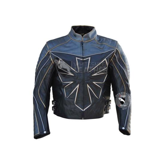 Custom Triumph Biker Leather Jacket