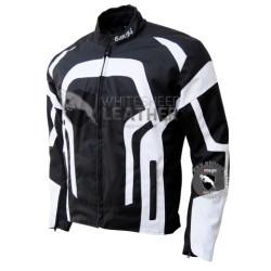 Textile Motorbike Men Black And Whitecordura Jackets ( Free Shipping )