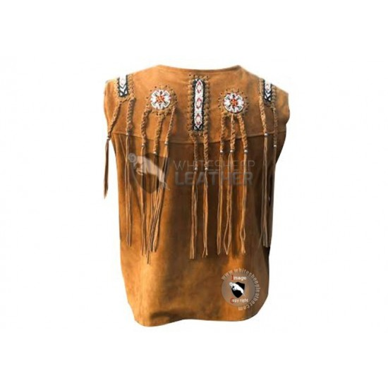 Classic Celebrity Western Leather Vest (Free Shipping)