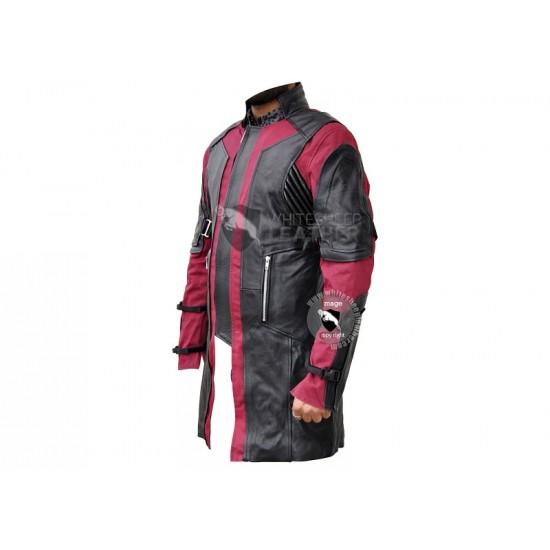 Avengers Age of Ultron Hawleye Leather Coat