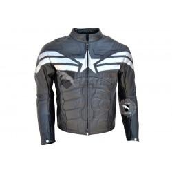 Captain America Black Leather Jacket