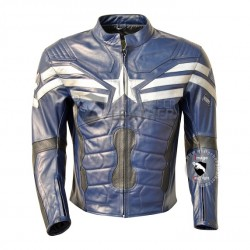 Captain America Blue Leather jacket