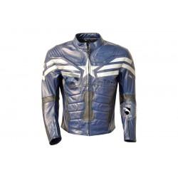 Captain America Blue Leather jacket