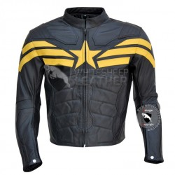 Captain America Yellow Black Leather Jacket