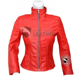 Scarlet witch Women Leather Jacket