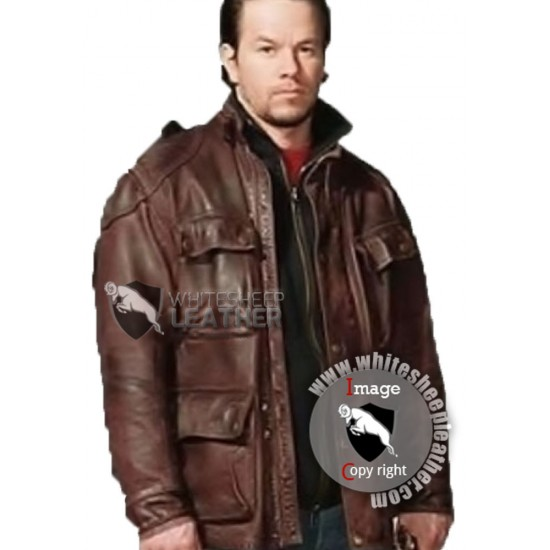 Four Brothers Brown Leather Jacket Style Coat