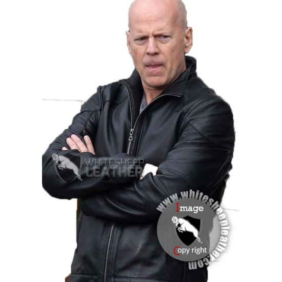 Frank Moses Red 2 Bruce Willis Leather Jacket