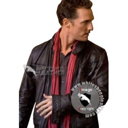 Ghost of Girlfriends Past Black Leather Jacket (Free shipping)