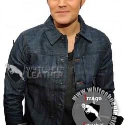 Gideon Before I Disappear Paul Wesley Denim Jean Jacket (Free shipping )