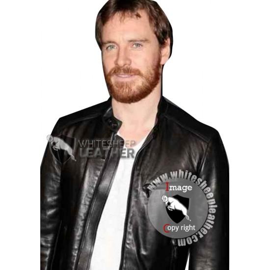 Golden Globes Michael Fassbender Leather Jacket
