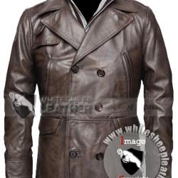 Inglourious Basterds Brad Pitt Leather Jacket (Free shipping)