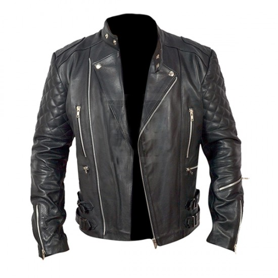 Classical Zipper Motorbike Leather Jackets