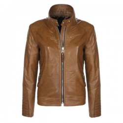 Designer Stylish Brown Motorbike Leather Jacket