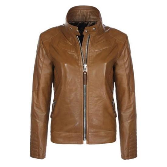 Designer Stylish Brown Motorbike Leather Jacket