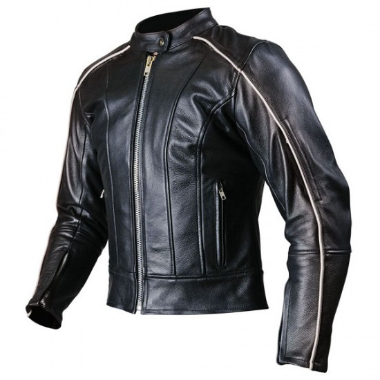 Trendy Men Fashion Black Motorcycle Leather Jacket