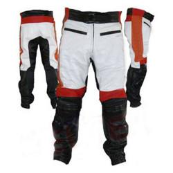 Designer Multi Color Motorbike Leather Trousers