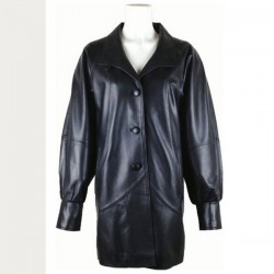 Women Stylish Black Leather Blazer