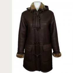 Trendy Women Fur Collar Leather Coat