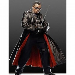 Blade Trinity Leather Trench Coat