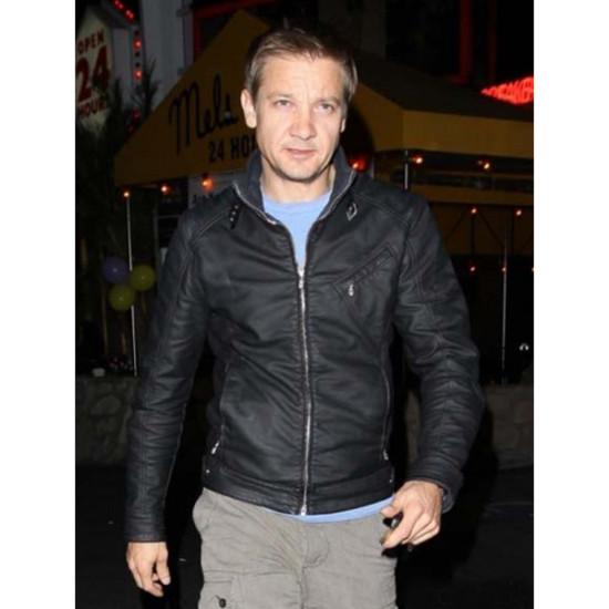 Designer Bourne Legacy Black Leather Jacket