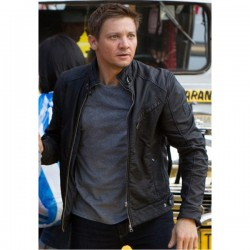 Designer Bourne Legacy Black Leather Jacket