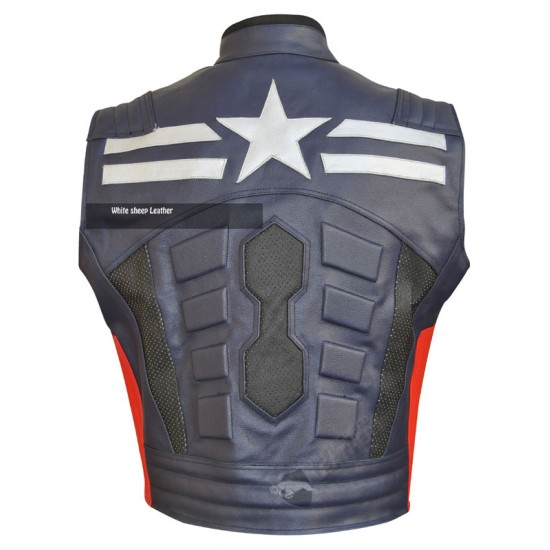 Captain America Leather Replica Vest