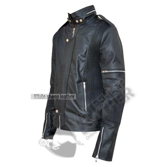 Men's Designer Daft Punk Studded Leather Jacket