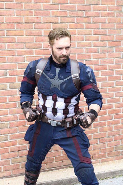 Avengers Infinity War Captain America Steve Rogers Costume Suit