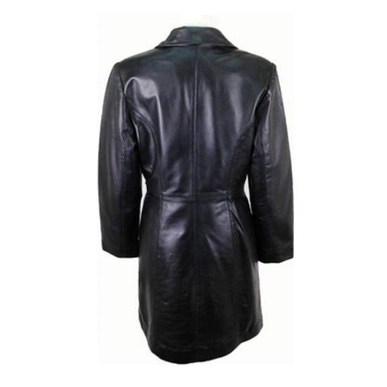 Ladies Stylish Black Soft Leather Coat