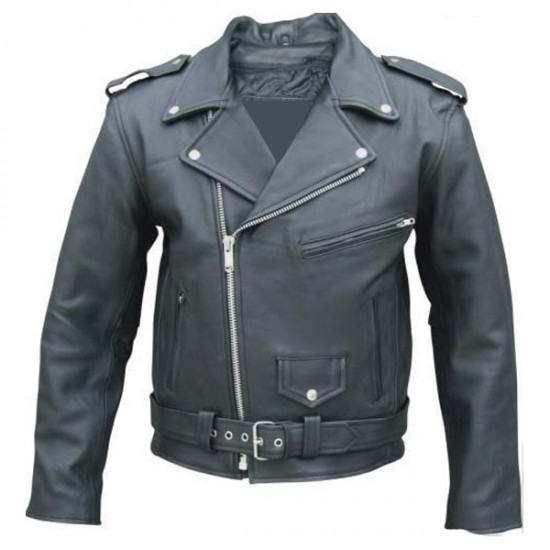 Men's Classic Biker Leather Jacket