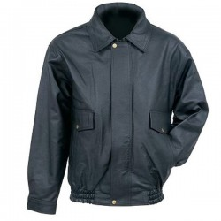 Men's Classic Black Bomber Leather jacket
