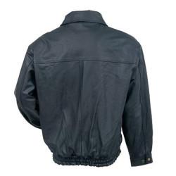 Men's Classic Black Bomber Leather jacket