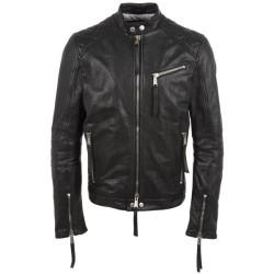 Stylish Men's Biker Black Leather Jacket