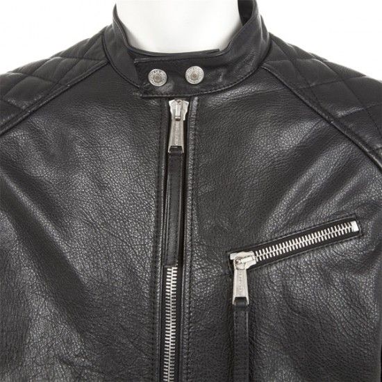 Stylish Men's Biker Black Leather Jacket