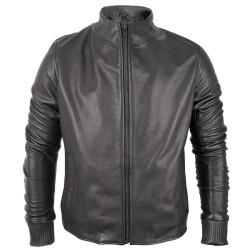 Trendy Black Biker Leather Jacket