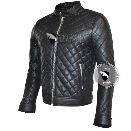 Men's Quilted Sheep Leather Jacket