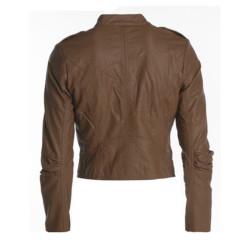Designer Men Brown Biker Leather Jacket