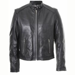 Designer Men Black Casual Leather Jacket