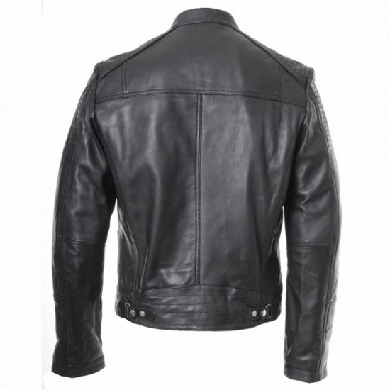 Designer Men Black Casual Leather Jacket