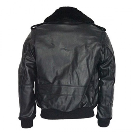 Men's Bomber Flight Leather Jacket